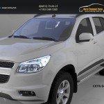 Пороги алюминиевые (Opal) Chevrolet TrailBlazer 2013+