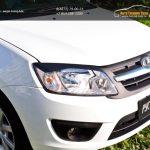 Накладки фар передние /ресницы/Lada Granta лифтбек 2014+