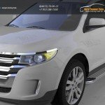 Пороги алюминиевые (Opal) Ford Edge 2014+