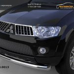 Защита переднего бампера Mitsubishi Pajero (Митсубиши Паджеро) Sport (2008-)/L200 (2014-) (одинарная) d76