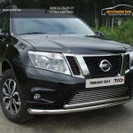 Защита передняя нижняя (двойная) 60,3/42,4 мм Nissan Terrano 2014