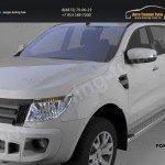 Пороги алюминиевые (Opal) Ford Ranger 4 дв 2012+