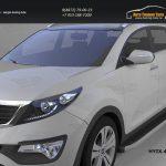 Пороги алюминиевые (Alyans) Hyundai IX-35 2009+/ Kia Sportage Киа Спортаж III 2010+