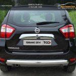 Защита задняя центральная (овальная) 75х42 мм Nissan Terrano 2014
