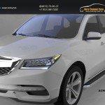 Пороги алюминиевые (Ring) Acura MDX 2014+
