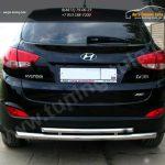 Задняя защита труда двойная d42+d42 Hyundai IX-35 2012+