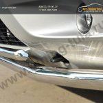 Nissan Terrano 2014-  Защита переднего бампера d63 (секции) d42 (дуга) декор-паз