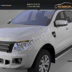Пороги алюминиевые (Ring) Ford Ranger 4 дв 2012+