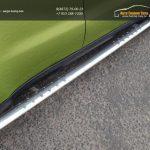 Пороги овальные с проступью 75х42 мм код KIA SOUL 2014+