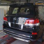 Защита заднего бампера Lexus LX570 Sport (одинарная) d76