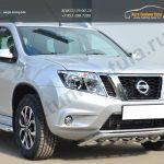 Nissan Terrano 2014- Защита переднего бампера d42 (волна) под машину+d42 (зубы)/арт.144-42