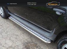 Пороги с площадкой 42,4 мм Рено Дастер/ Duster 2012/арт.143-23