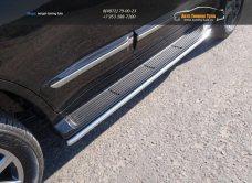 Защита порогов 42,4 мм LEXUS LX Sport 570 2014+/арт.670-23
