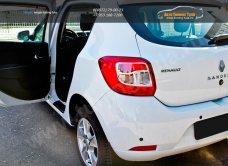 Накладки на внутренние пороги дверей Renault SANDERO 2014+/арт.136-2