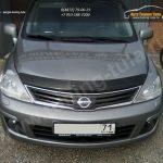 Накладки на передние фары (реснички) Nissan Tiida 2004-2007