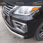 Защита передняя нижняя (овальная длинная) 75х42 мм LEXUS LX Sport 570 2014+