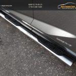 Пороги овальные с накладкой 120х60 мм Lexus NX 300H 2014+