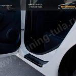 Накладки на внутренние пороги дверей Renault SANDERO 2014+