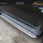 Пороги с площадкой 42,4 мм Рено Дастер/ Duster 2012