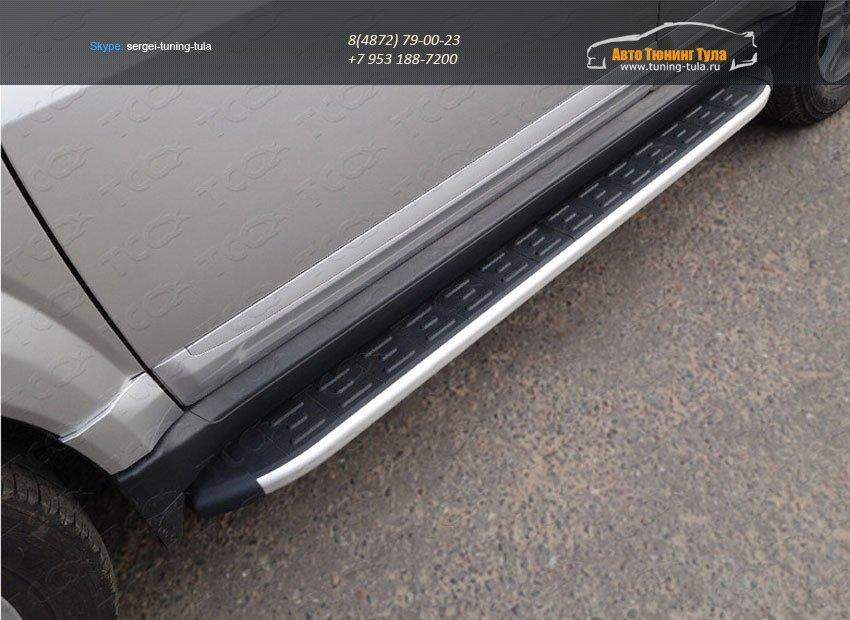Пороги алюминиевые с пластиковой накладкой 1820 мм Great Wall H3 2014+ /арт.18-2