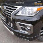 Защита передняя нижняя (овальная короткая) 75х42 мм LEXUS LX Sport 570 2014+