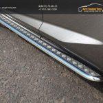 Пороги с площадкой 42,4 мм Lexus NX 300H 2014+