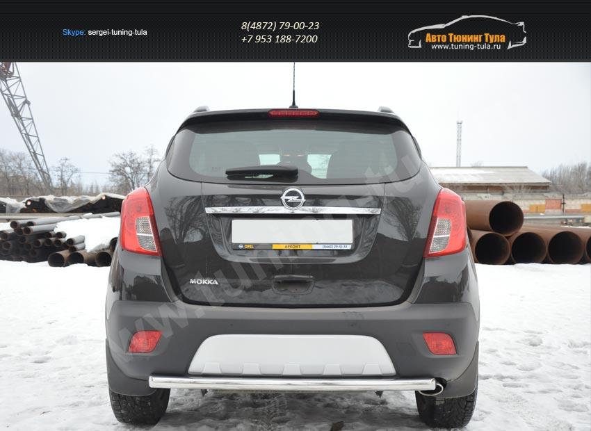 Задняя защита труба d53 Opel MOKKA 2012+ /арт.723-4