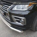Защита передняя нижняя (двойная) 76,1/75  LEXUS LX 570 2014+