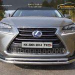 Защита передняя нижняя (двойная) 60,3/42,4 мм Lexus NX 300H 2014+