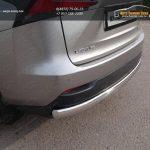 Защита задняя (овальная) 75х42 мм Lexus NX 300H 2014+