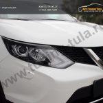 Накладка на фары / Реснички Nissan Qashqai 2014+