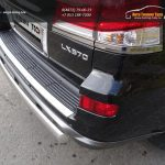 Защита задняя (овальная) 75х42 мм LEXUS LX Sport 570 2014+