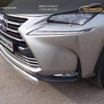 Защита передняя нижняя (овальная) 75х42 мм Lexus NX 300 H 2014+