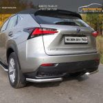 Защита задняя (уголки) 60,3 мм Lexus NX 300H 2014+