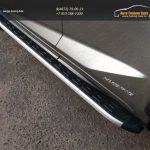 Пороги алюминиевые с пластиковой накладкой  Lexus NX 300H 2014+