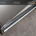 Пороги овальные с проступью 75х42 мм Lexus NX 300H 2014+