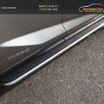 Пороги с площадкой (нерж. лист) 42,4 мм Lexus NX 300H 2014+