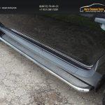 Пороги с площадкой (нерж. лист) 42,4 мм Рено Дастер/ Duster 2012