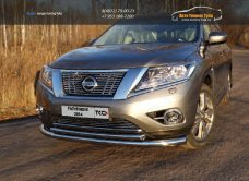Защита передняя нижняя (двойная) 76,1/50,8 мм Nissan Pathfinder 2014+/арт.651-3