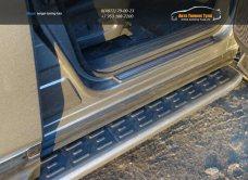 Пороги алюминиевые с пластиковой накладкой Nissan Pathfinder 2014+/арт.651-12