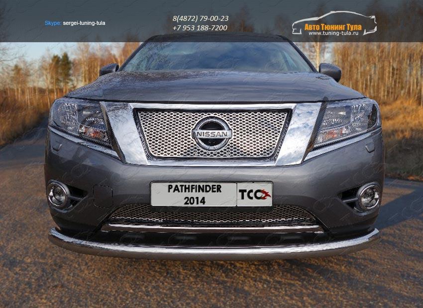 Защита передняя нижняя 76,1 мм Nissan Pathfinder 2014+/арт.651-4