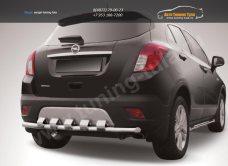 Защита заднего бампера d57 с декоративными элементами Opel MOKKA 2012+/арт.723-17