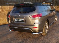 Защита задняя (уголки) 76,1 мм Nissan Pathfinder 2014+/арт.651-16