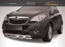 Защита переднего бампера d57 с декоративными элементами Opel MOKKA 2012+/арт.723-9