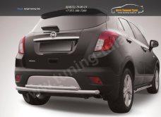 Защита заднего бампера d57+d42 двойная радиусная Opel MOKKA 2012+/арт.723-15
