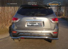 Защита задняя 60,3 мм Nissan Pathfinder 2014+/арт.651-13