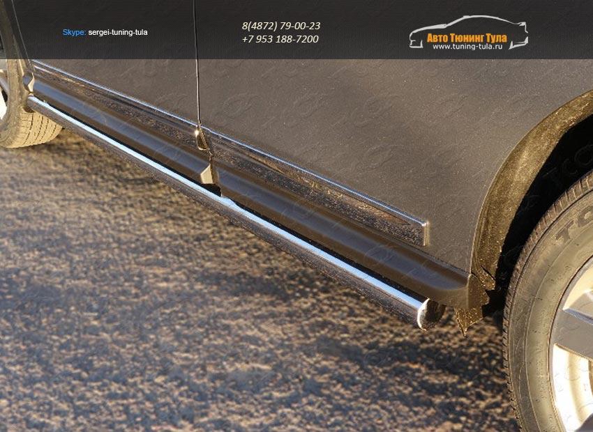 Пороги труба 76,1 мм Nissan Pathfinder 2014+/арт.651-11