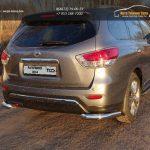 Защита задняя (уголки) 76,1 мм Nissan Pathfinder 2014+