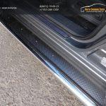 Пороги с площадкой (нерж. лист) 42,4 или 60,3 Nissan Pathfinder 2014+