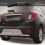 Защита заднего бампера d57+d42 двойная радиусная Opel MOKKA 2012+